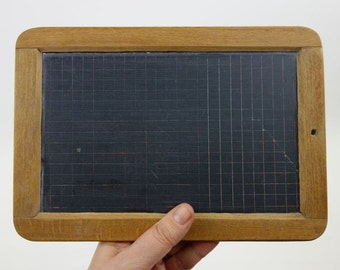 Vintage French Lined Slate Board