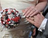 Las Vegas themed Button & Brooch Wedding Bouquet
