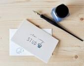 Funny Valentine - Cute Anniversary Card - Stud Muffin