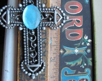 Large Mexican Style Filigree Cross