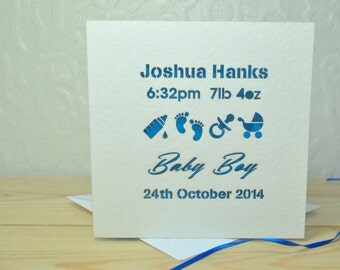 New Baby Personalised Laser Cut Card