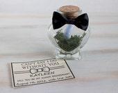 Groomsman Invitation Will You Be My Groomsman Best Man Wedding invite Man of Honor Wedding Card Custom Message in a bottle Heart Bottle