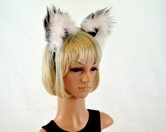 Raccoon Ears Headband Faux Fur