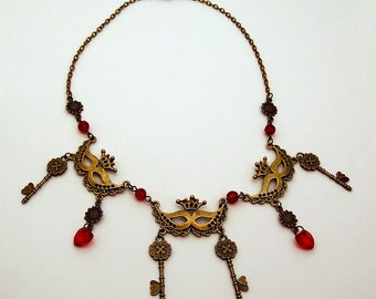 Masquerade Gothic Steampunk Vintage Style necklace