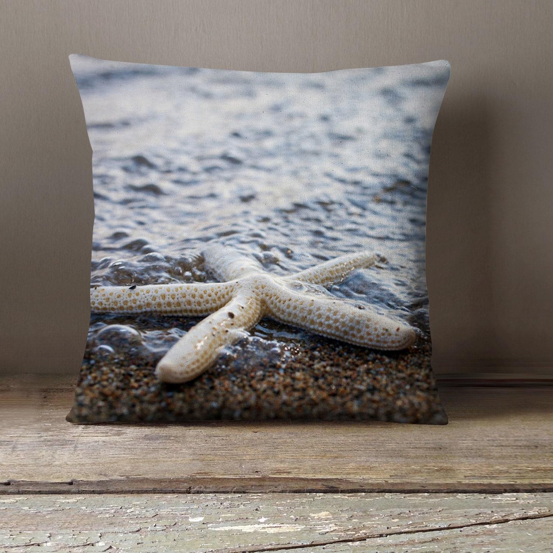 Seashell no 1. Starfish Decorative Pillow Case Photo Pillow