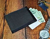 READY TO SHIP Waxed Canvas Bifold Wallet - Dark Brown Mens Wallet - Everyday Carry Wallet - Gift for Him - Water Resistant