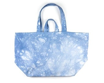 Large Tote Bag. Large Beach Bag. Large Bag. Market Bag. Dyed Bag. Blue Beach Bag Tote