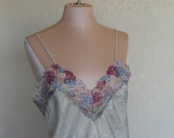 Vintage Camisole Wendy Ann Small Satin and Lace