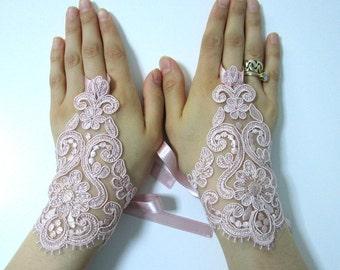 Wedding gloves bride glove bridal gloves lace gloves fingerless gloves powder gloves silvery lace gloves cuff wedding free ship bridal glove