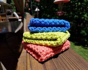 Cotton Washcloth, Cotton Dishcloth, Natural Washcloth, Natural Dishcloth