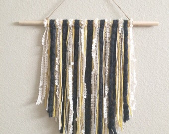 Wall Hanging | Yarn Wall Hanging | Modern Decor | Fiber Art | Tapestry | Wall Decor