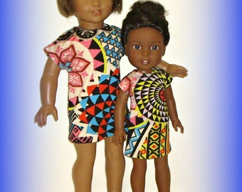 "Handmade Doll Clothes, ""Big Sis, Little Sis"" by traveller240 for 18"" Dolls and 14.5"" Dolls such as American Girl, Wellie Wishers, Bold Geo"
