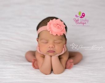Baby Headband - You Pick 1 Shabby Hairbow - Baby Hair Accessories - Baby Girl Headbands - Infant Headband - Newborn Headband - Baby Bows