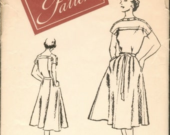 Fab Unused  Vintage 1950s Woman's Day 3272 Wrap Around Dress Sewing Pattern B32