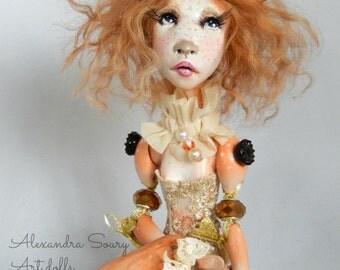 Ooak Art Doll  -Margherite the doe  .Handmade