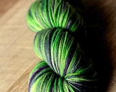 """Sock Yarn - 80/10/10 SW Merino/Cashmere/Nylon - Holiday - """"The Day The Music Died"""""""