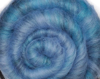 Carded batt for spinning and felting - Drum carded mixed fiber batt - Racing Clouds - 2.3 ounces