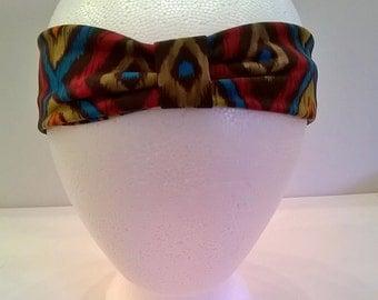 Colorful Print Jersey Headband - Turban Styling - Boho Chic Hippie Stretchy Hair Band