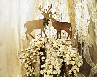 deer cake topper hunting themed weddings buck doe bride and groom wedding cake topper wood silhouettes grooms cake camouflage deer hunting