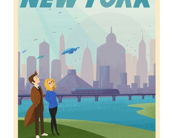 Doctor Who: New New York - Giclée Print