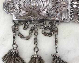GREAT GATSBY WEDDING Belt, metal hand filigree true 1920s wedding belt!
