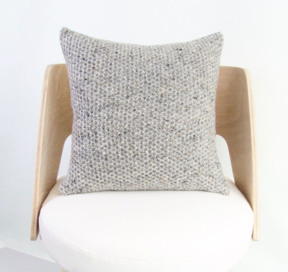 Chunky Wool Cushion Cover Chunky Knit Wool by ArticleApparel