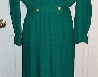 Vintage Ladies Green Dress by Talbots Size 12 P Only 12 USD