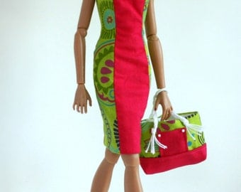 Summer dress and beach bag for Color Infusion and Jem Dolls