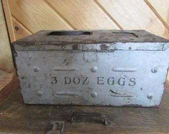 Antique Egg Crate Metal