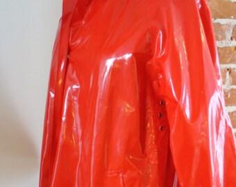 Vintage Pappagallo Vinyl Rain Coat Size S