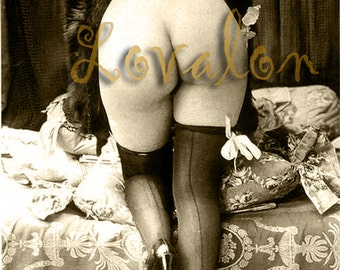 MATURE... Classic Nude... Deluxe Art Deco Erotic Art Print... Vintage Nude Glamour Photo... Available In Various Sizes