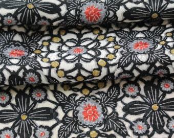 Vintage Kimono Silk,  Kimono Fabric, Japanese Kimono, Cherry Blossom Silk, Floral Kimono