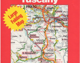 Baedekers Map of Tuscany, Italy