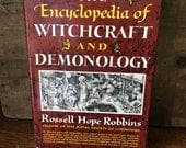 """Vintage 1960 Book- """"The Encyclopedia of Witchcraft And Demonology"""""""