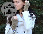Easy Knitting Pattern for Fingerless Gloves / Beginner Knitting Project with Photos / Instant PDF Download