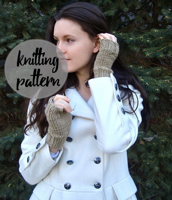 Fingerless Gloves Knitting Pattern Beginner : Easy Knitting Pattern for Fingerless Gloves / by KnittingWonders