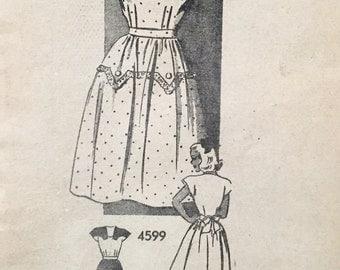 "Vintage 1940s Anne Adams Misses' Dress Pattern 4599 Size 14 (32"" Bust)"