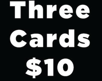 Any Three Letterpress Cards