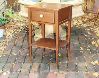 Rustic Painted Night Stand End Table Vintage Farmhouse Decor