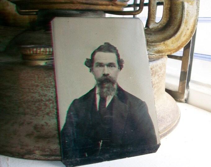 Antique Tin Type Photograph of a Man Circa 1850-1860s