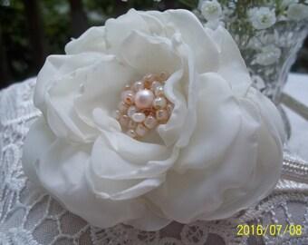 IVORY ROSE HEADBAND Vintage Chic Hair Accessory Handmade Rose Woodland Country Wedding Bridal Boho Rustic Bridesmaids Flower Girl Wild Rose