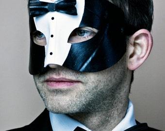 Dîner unique Créateur insolite Tuxedo costume masque en cuir sur le thème
