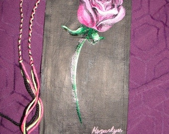 ROSE Wall Hanging - Oil Painting - Pretty - ART