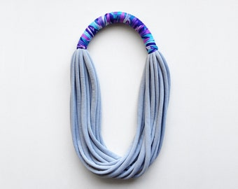 N E W - more colors - The print necklace - handmade with jersey and print fabric