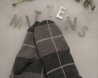 Ladies Recycled, Repurposed, Upcycled Wool or Cotton Sweater Mittens