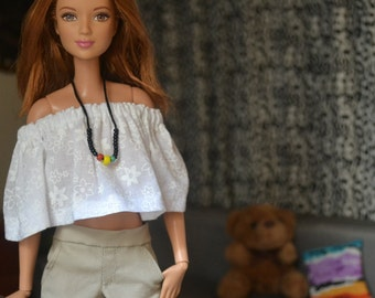Khaki City Shorts for 12in Fashion Dolls