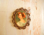 Vintage Brooch with Victorian Lady | Portrait Brooch