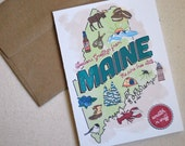 MAINE Scratch-N-Sniff Holiday Card