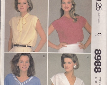 Versatile Blouse Pattern McCalls 8988 Size 16