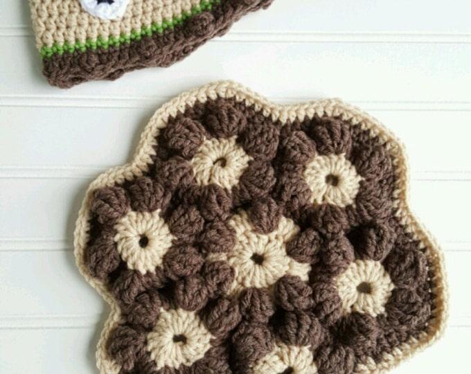 Sea Turtle Shell Photo prop and Hat, Crochet PATTERN, Shell crochet pattern, Russian Tortoise shell photo prop